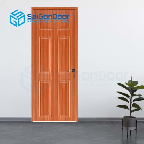 Cửa gỗ nhà tắm SGD Cua go HDF Veneer 6A-sapele