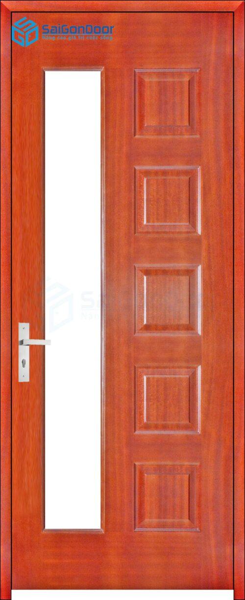 Cửa gỗ phòng ngủ PN HDF Veneer 6GL-cam xe