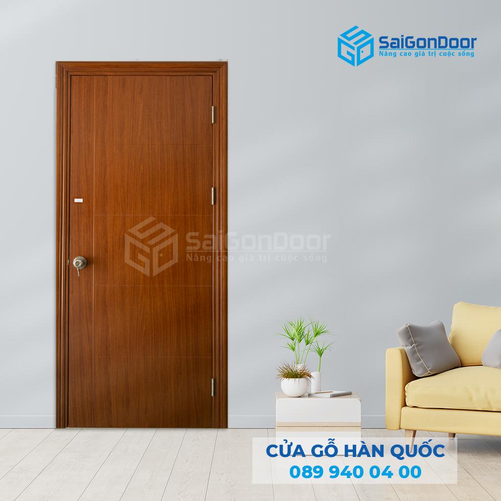 Cửa thông phòng bằng cửa gỗ Hàn Quốc