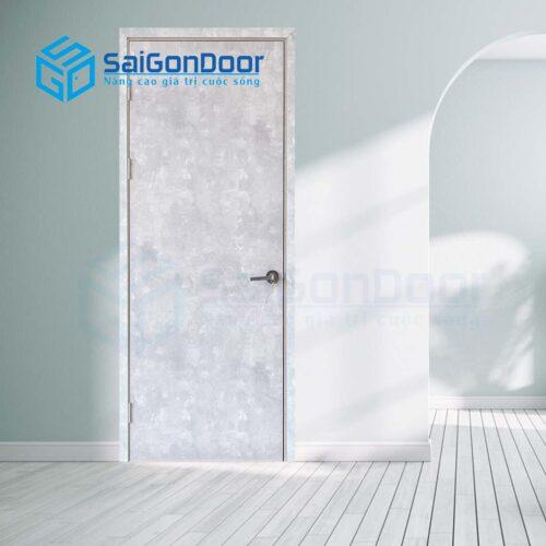 Cửa gỗ nhà tắm SGD Cua go MDF Lamiante P1 van kem