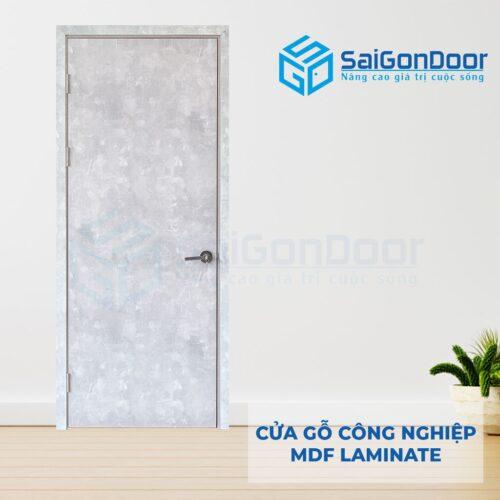 Cửa gỗ công nghiệp MDF Laminate P1 van kem