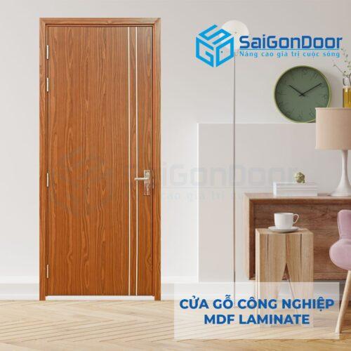 Cửa gỗ công nghiệp MDF laminate P1R2 (2)