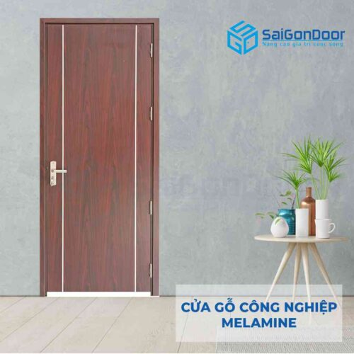Cửa gỗ công nghiệp MDF Melamine P1R2-1