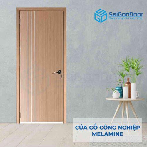 Cửa gỗ công nghiệp MDF Melamine P1R3-1