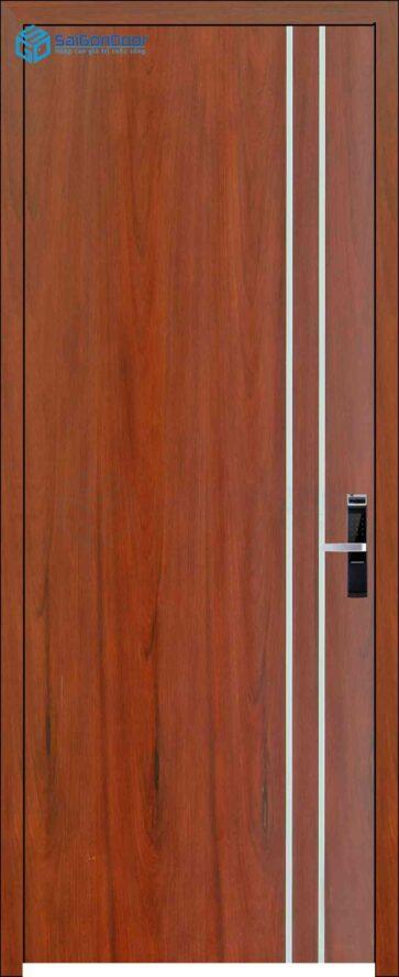 Cửa gỗ phủ nhựa PVC MDF Veneer P1R2 Cam xe