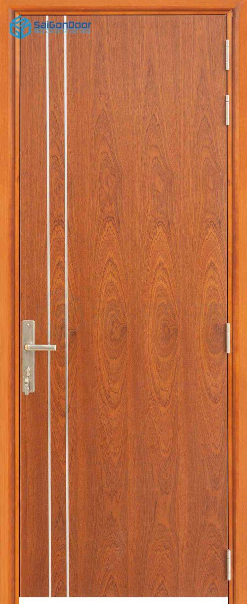 Cửa gỗ công nghiệp MDF Veneer P1R2 xoan dao