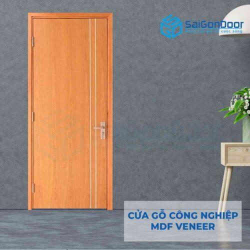 Cửa gỗ công nghiệp MDF Veneer P1R2- xoan dao