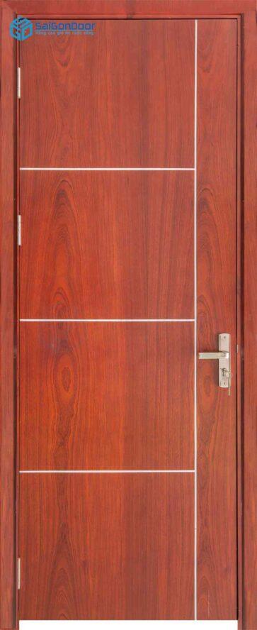 Cửa gỗ công nghiệp MDF Veneer P1R4b-cam xe