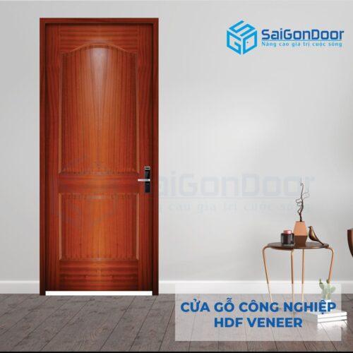 Cửa gỗ công nghiệp HDF Veneer 2A cam xe