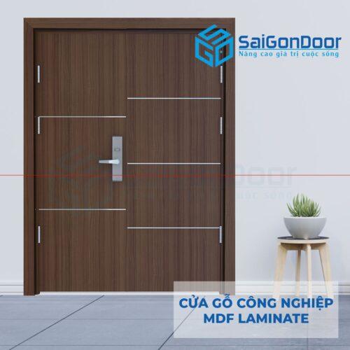 Cửa gỗ công nghiệp MDF Laminate 2P1R51