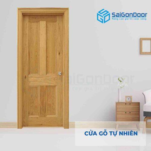 Cửa gỗ tự nhiên GTN 4A soi