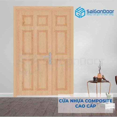 Cửa nhựa Composite 2 canh 9A Oak (1)