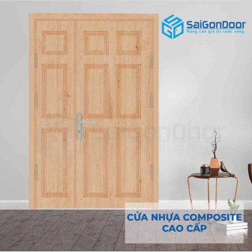 Cửa nhựa Composite 2 canh 9A Oak (2)