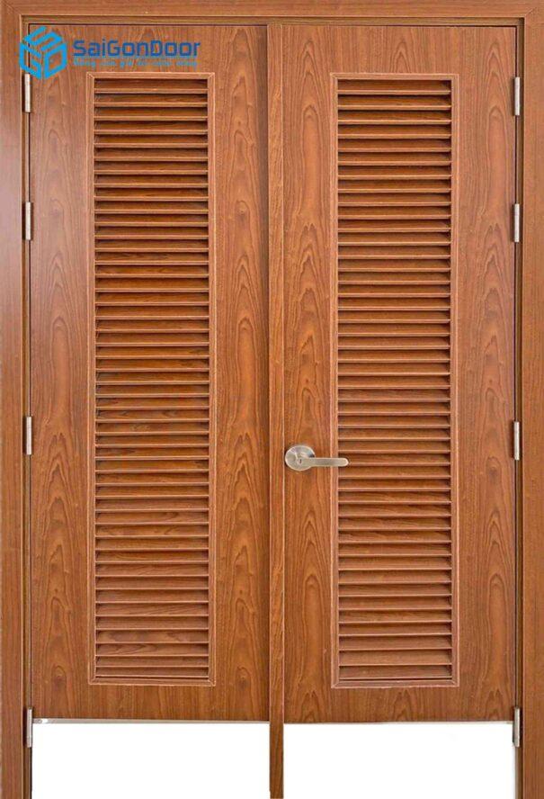 Cửa gỗ công nghiệp MDF Melamine IMG_2207 2 cánh ô gió