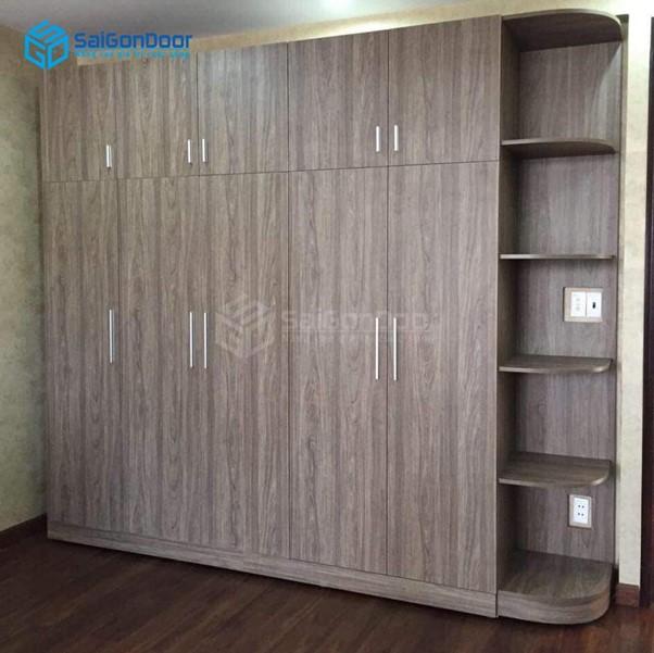 Tủ quần áo thiết kế vân gỗ đẳng cấp