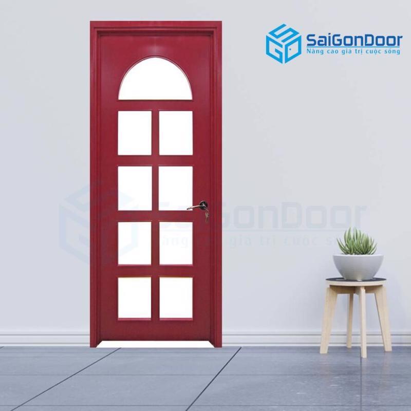 Cửa gỗ cao cấp SaiGonDoor MDF Veneer P1G9 mau do