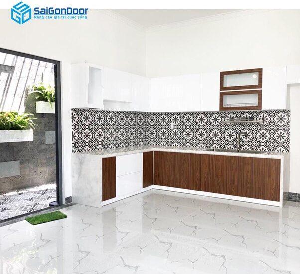 Thiết kế sang trọng hiện đại phù hợp với không gian bếp