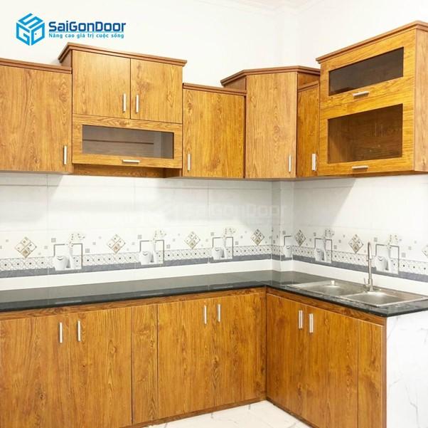 Kệ bếp - tủ bếp có khả năng lưu trữ lớn, đựng đồ tốt