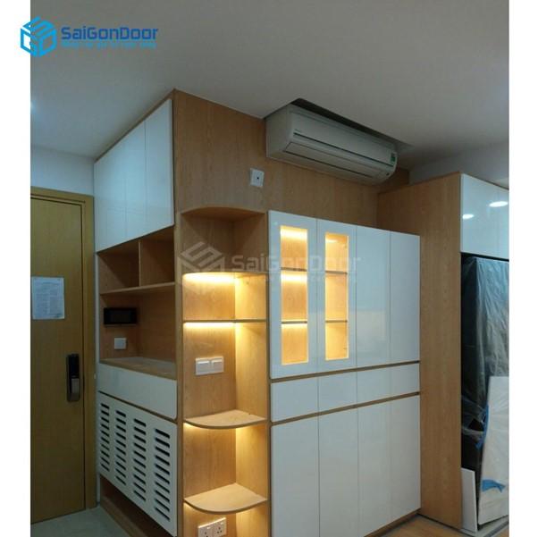 Tủ quần áo gỗ thiết kế tiện lợi