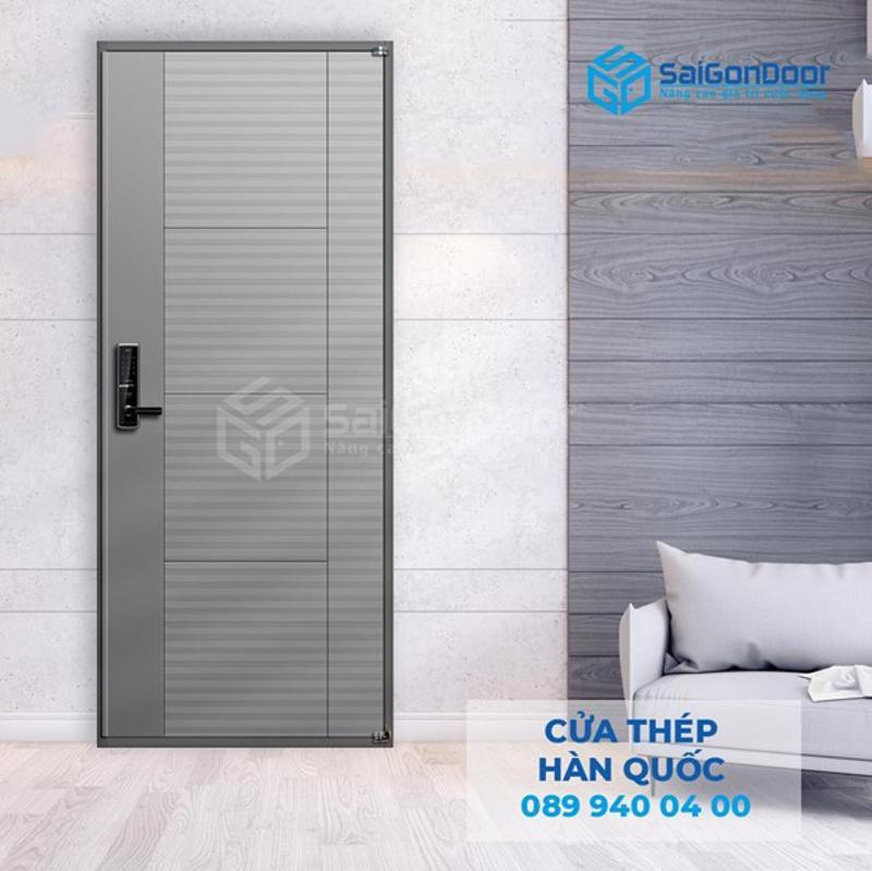 Ở giữa 2 tấm thép dày của cửa chính là giấy chịu nhiệt Honeycomb