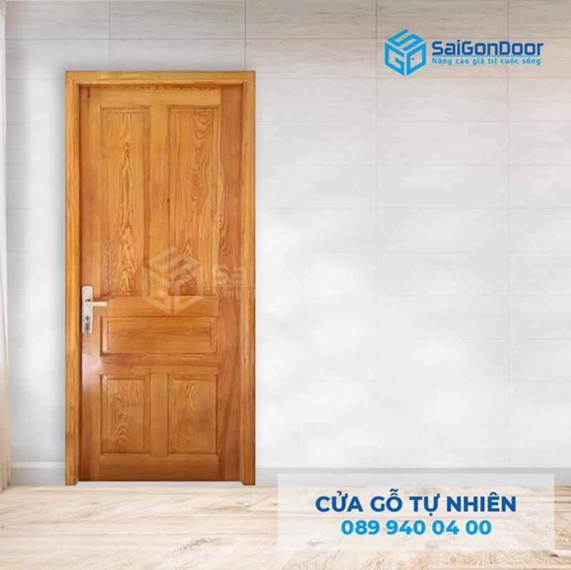 Cửa gỗ tự nhiên cho phòng ngủ đẹp