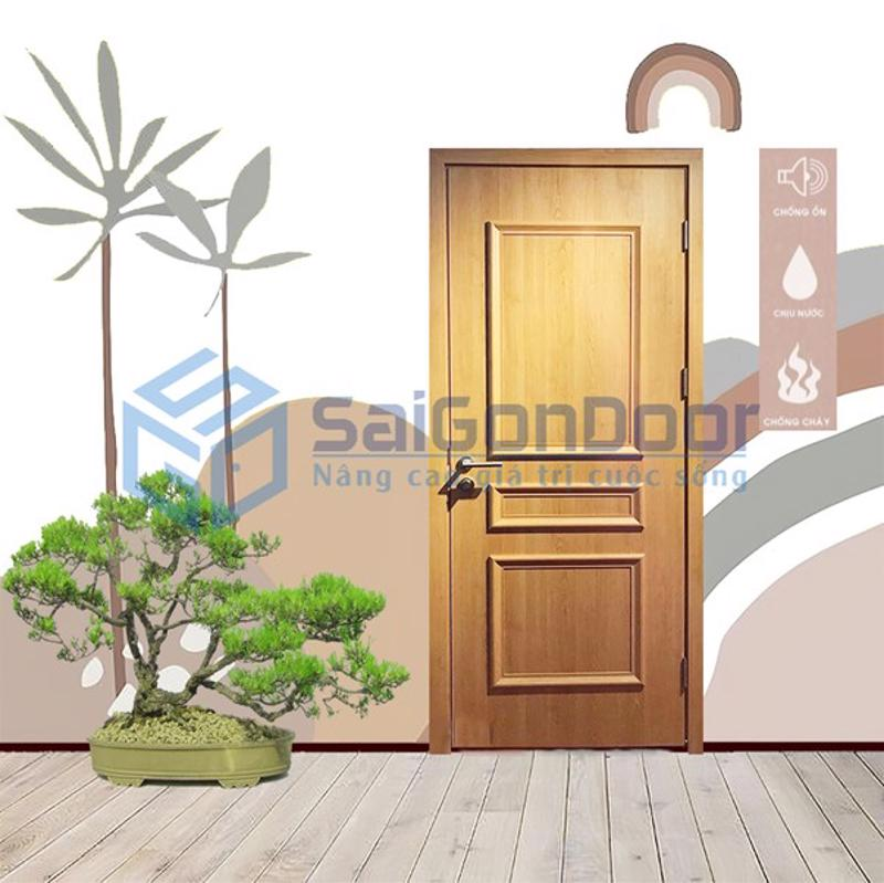 Lắp cửa nhựa gỗ composite lên tường