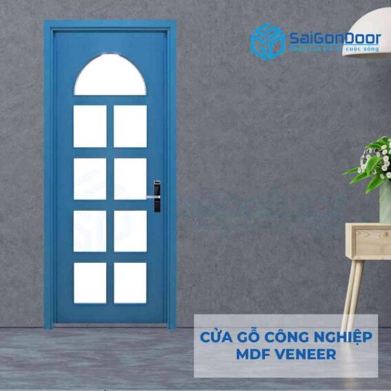 Mẫu cửa gỗ công nghiệp MDF Veneer tạo điểm nhấn mọi công trình