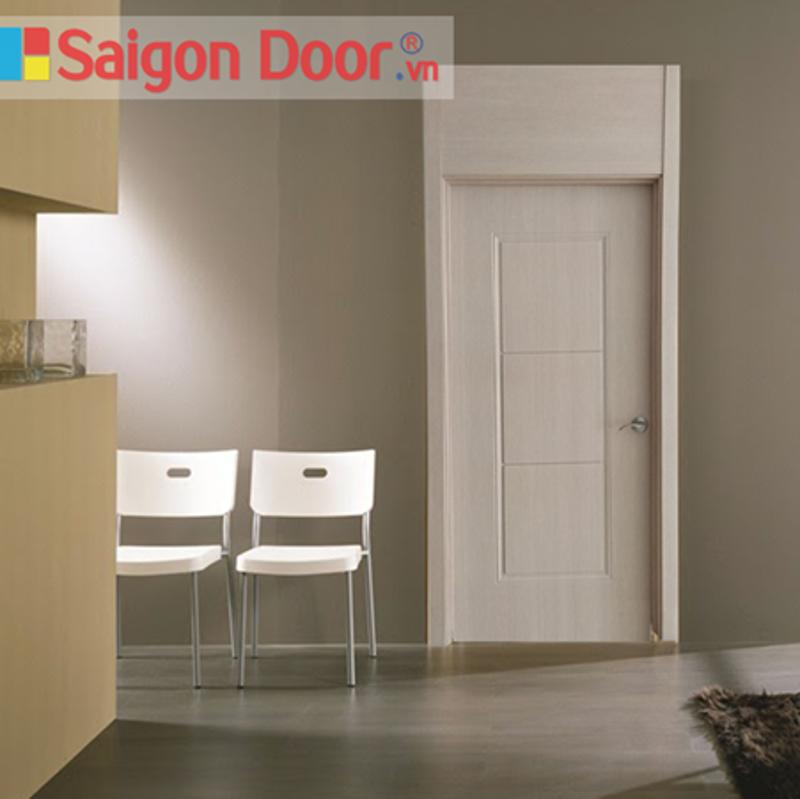 Mẫu cửa gỗ phòng tắm gỗ công nghiệp là sự lựa chọn của nhiều gia đình