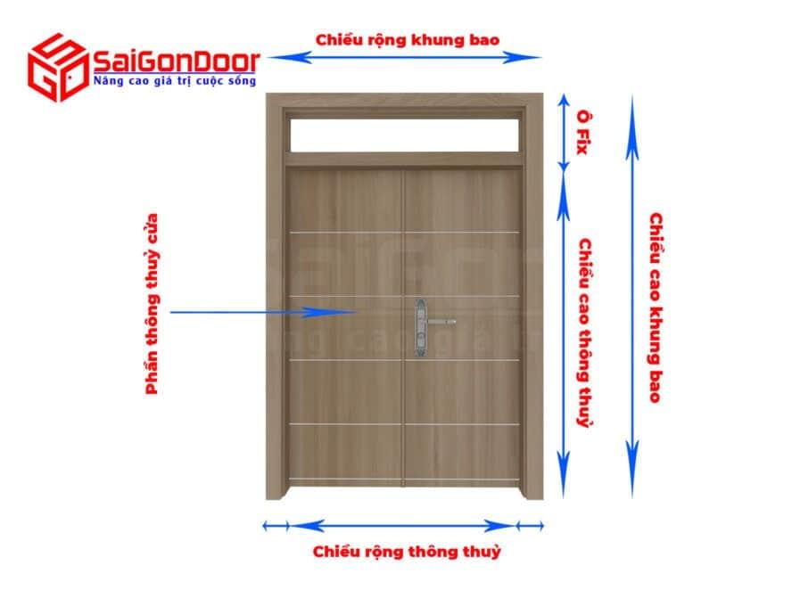 Cách tính kích thước phong thuỷ cửa theo thước lỗ ban