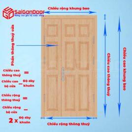 Hướng dẫn lựa chọn cửa chính 2 cánh phù hợp phong thuỷ