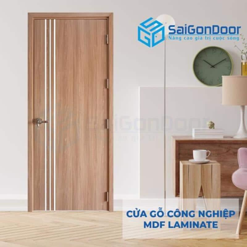 Mẫu cửa gỗ công nghiệp MDF phủ Laminate