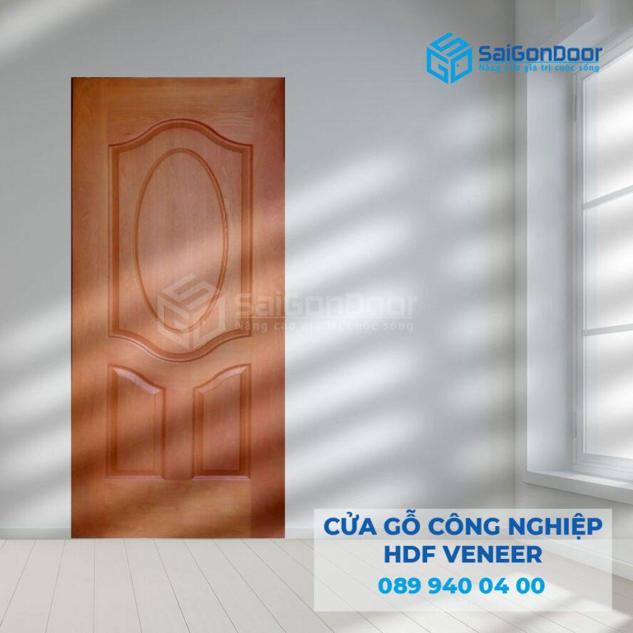 Cửa gỗ công nghiệp HDF sang trọng