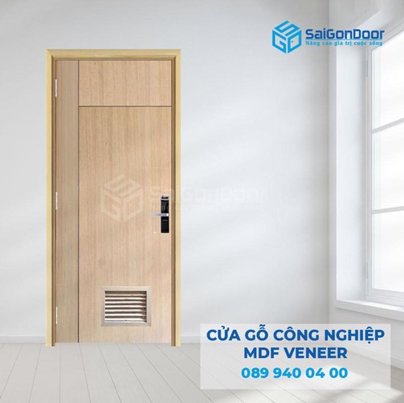 Cửa nhà vệ sinh bằng gỗ công nghiệp MDF