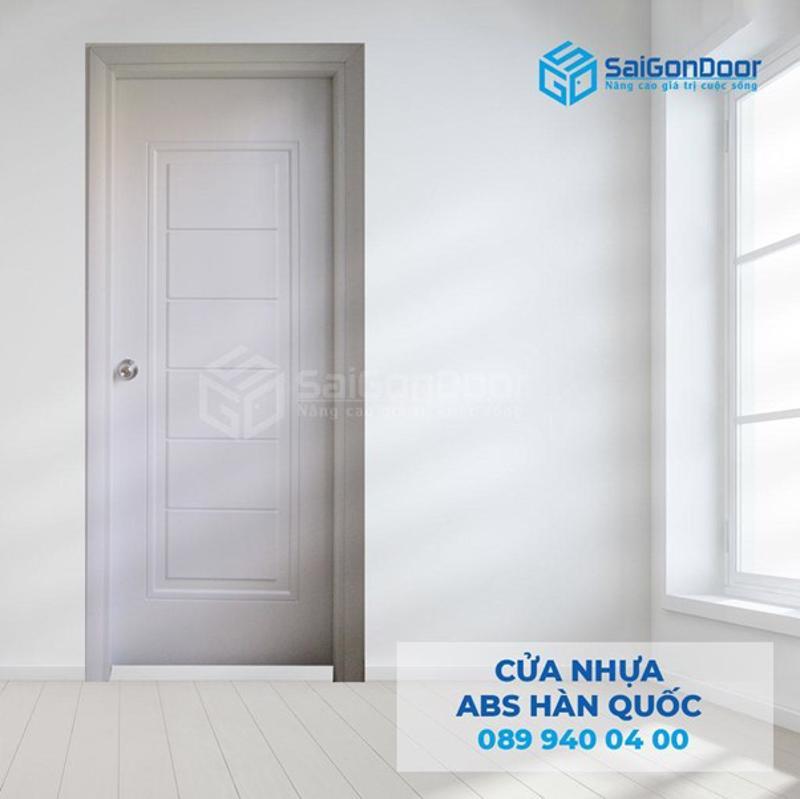 Cửa phòng vệ sinh bằng cửa nhựa ABS Hàn Quốc tại chung cư